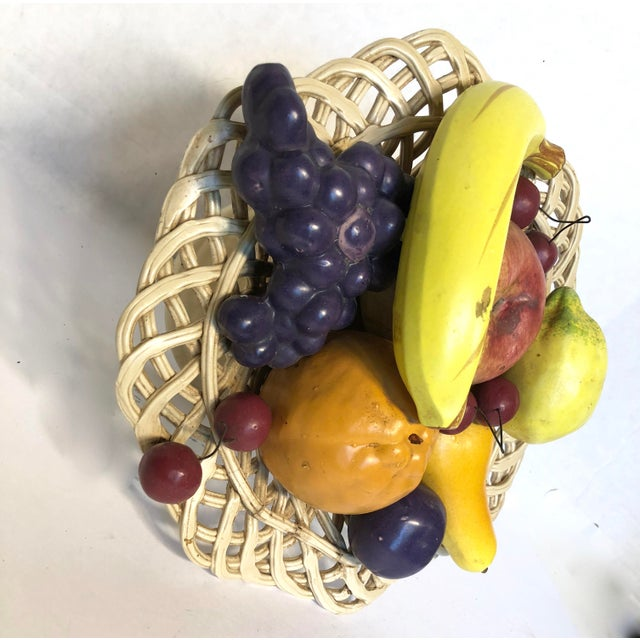 1980s Traditional Italian Porcelain Fruit Topiary/Basket For Sale - Image 6 of 11