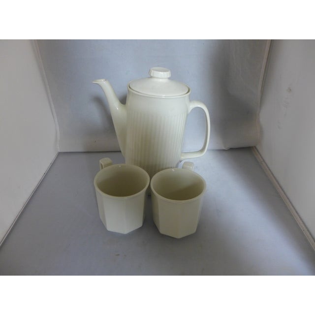 White Ironstone Tea Service Set - 3 Pieces For Sale - Image 5 of 7