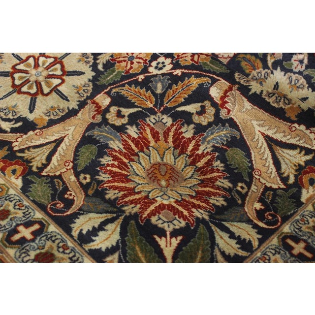 """Heritage Sixta Red & Blue Wool Rug - 12'1"""" x 17'5"""" For Sale - Image 4 of 7"""