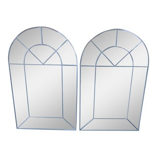 Carol Canner Designed Carvers' Guild Architectural Window Style Mirrors - a Pair For Sale