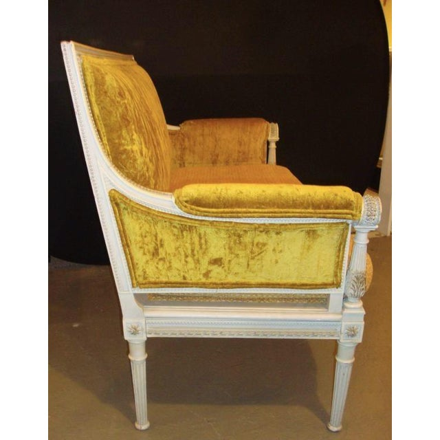 Antique Maison Jansen Style Settee in a Swedish Finish - Image 3 of 7