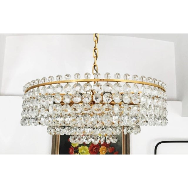 Mid-Century Modern Cut Crystal Chandelier by Bakalowits, 1960s For Sale - Image 3 of 6