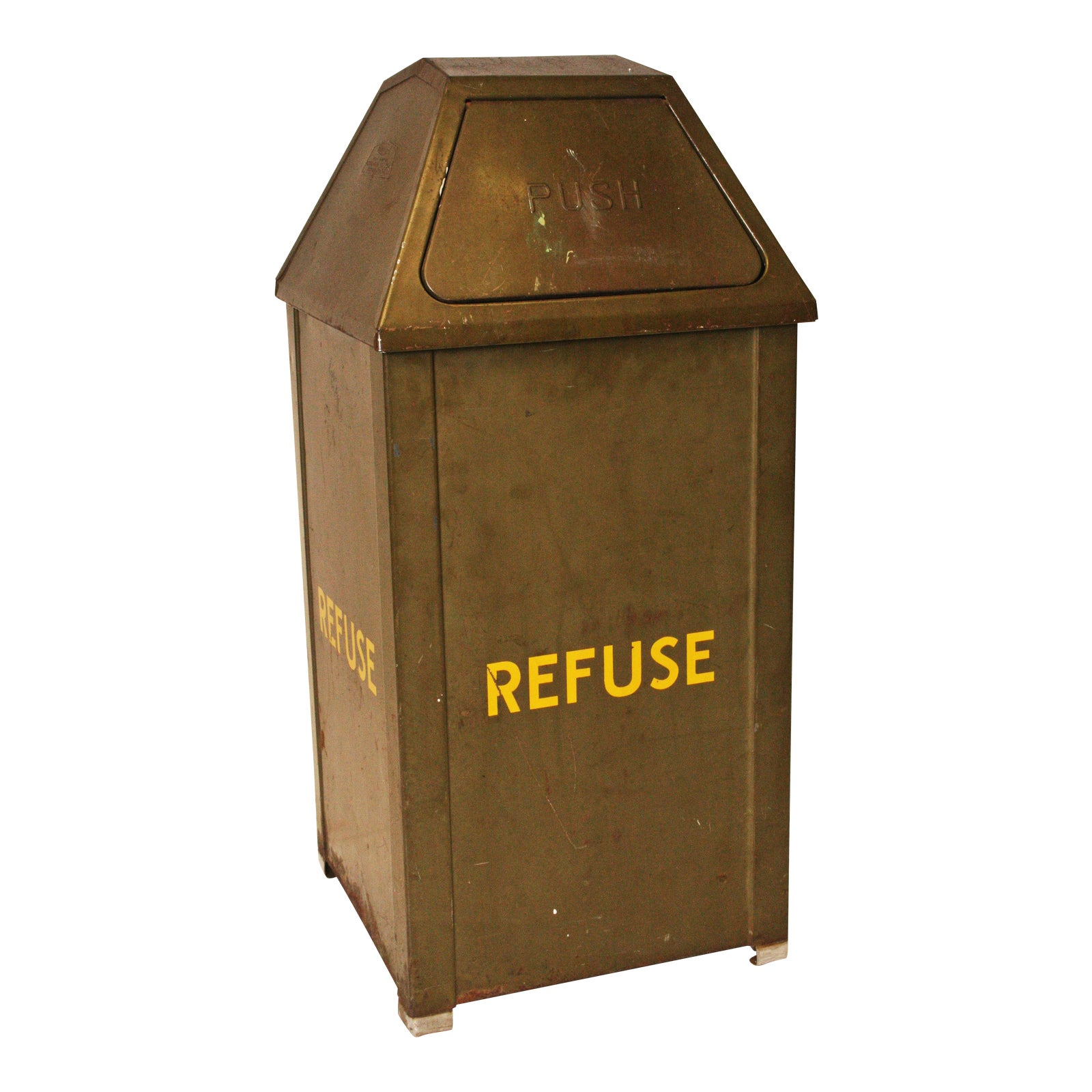 Vintage industrial metal trash can chairish