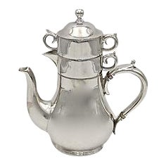 English Silverplate Stacking Tea For One For Sale