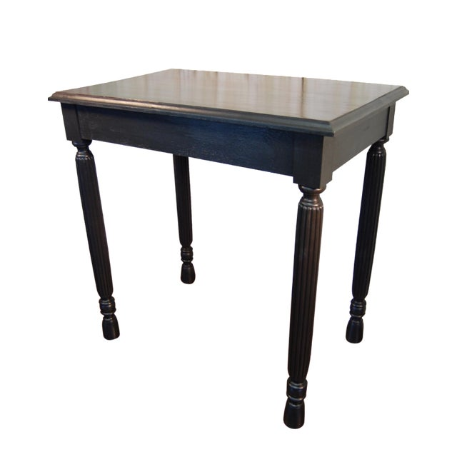 Black Table with Jewel Toned Surface - Image 1 of 8