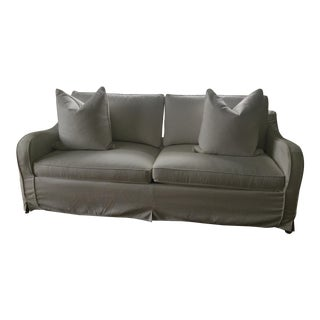 "Ethan Allen ""Dylan"" Slipcovered Sofa & Extra Slipcover For Sale"