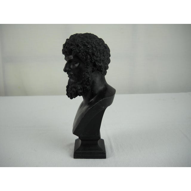 Classical Cast Metal Greek Bust - Image 4 of 8
