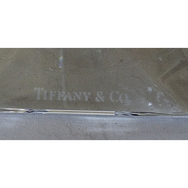 Contemporary Frank Lloyd Wright Crystal Candlestick by Tiffany For Sale - Image 3 of 4