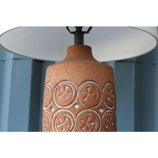 Mid-Century Modern Vintage Ceramic Lamp, 1960s For Sale - Image 3 of 7