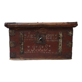 19th-Century Swedish Marriage Chest / Box For Sale