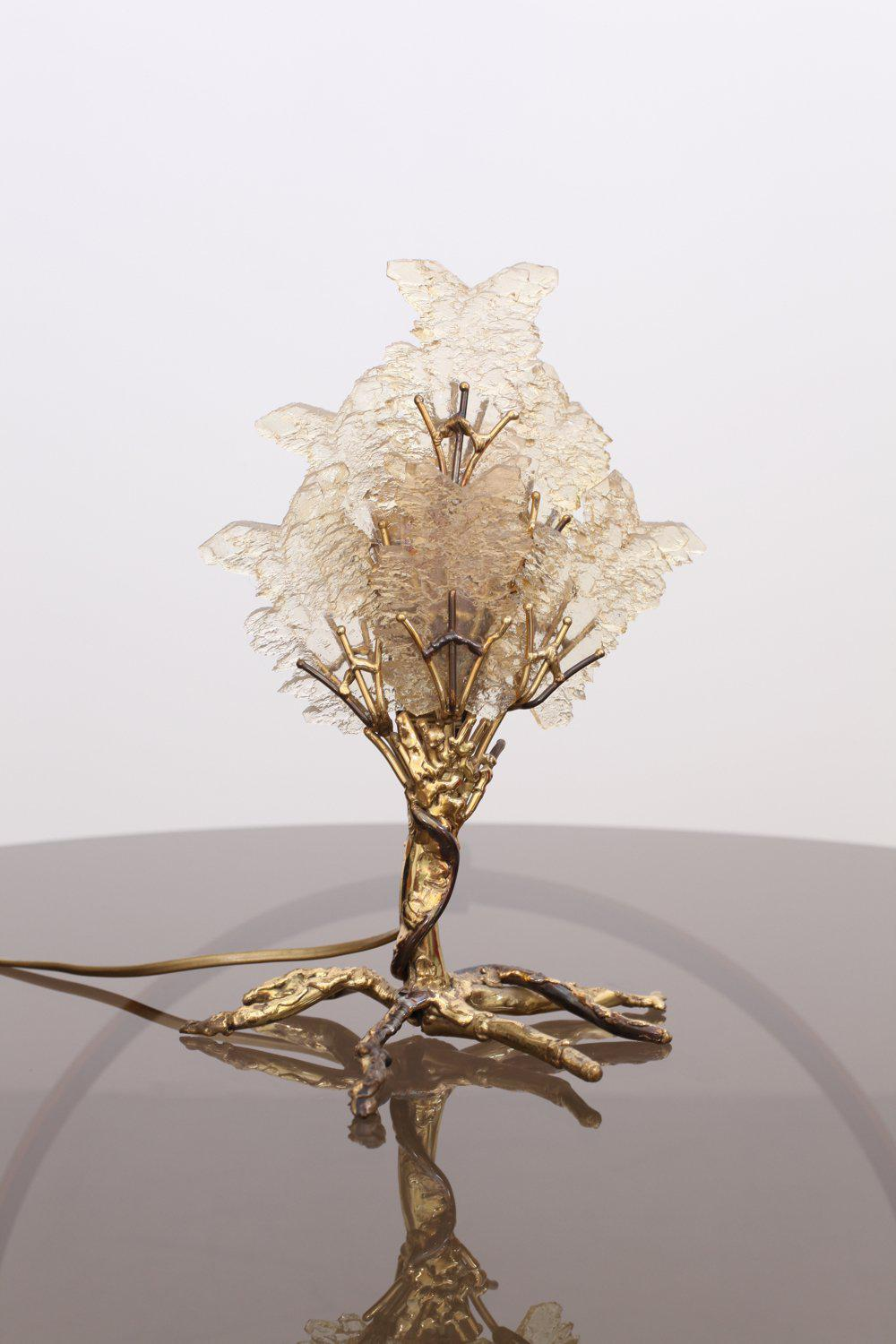 Beautiful Unique Brass Tree Table Lamp By Henri Fernandez   Image 5 Of 9