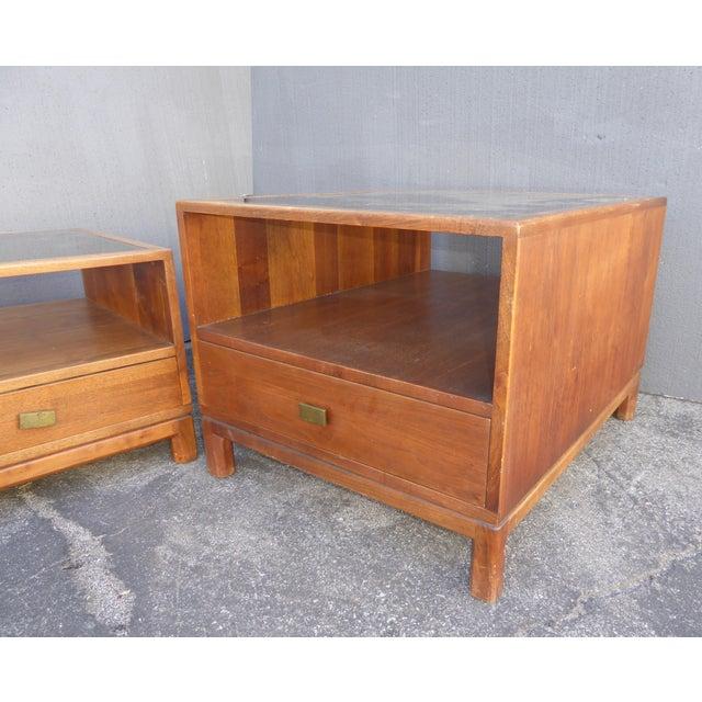 Mid 20th Century Vintage Danish Mid Century Modern Walnut Coffee & End Table - Set of 2 For Sale - Image 5 of 13