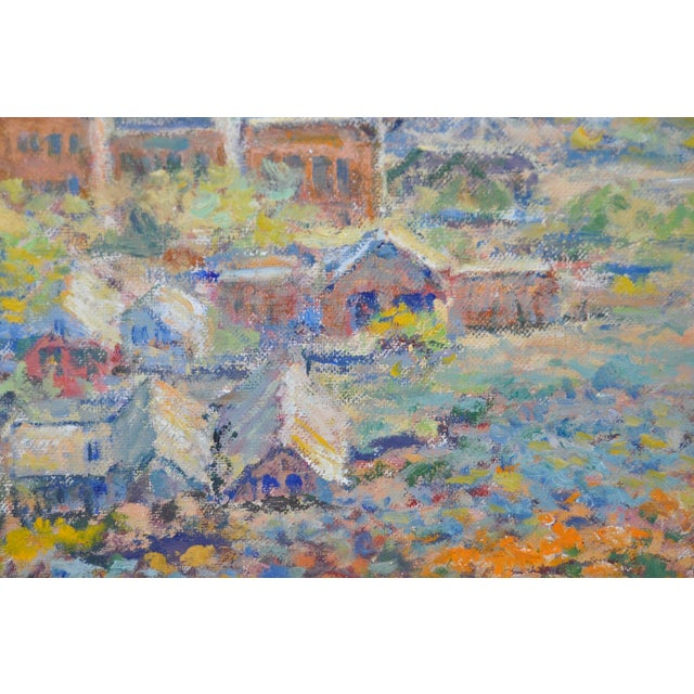 Western Mountain Village Oil Painting For Sale - Image 5 of 6