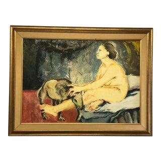 """Juan Carlos Bronstein """"El Sueno"""" Oil Painting"""
