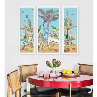 "Medium ""Palm Beach Paradise, 3 Panels"" Print by Allison Cosmos, 35"" X 30"" Preview"