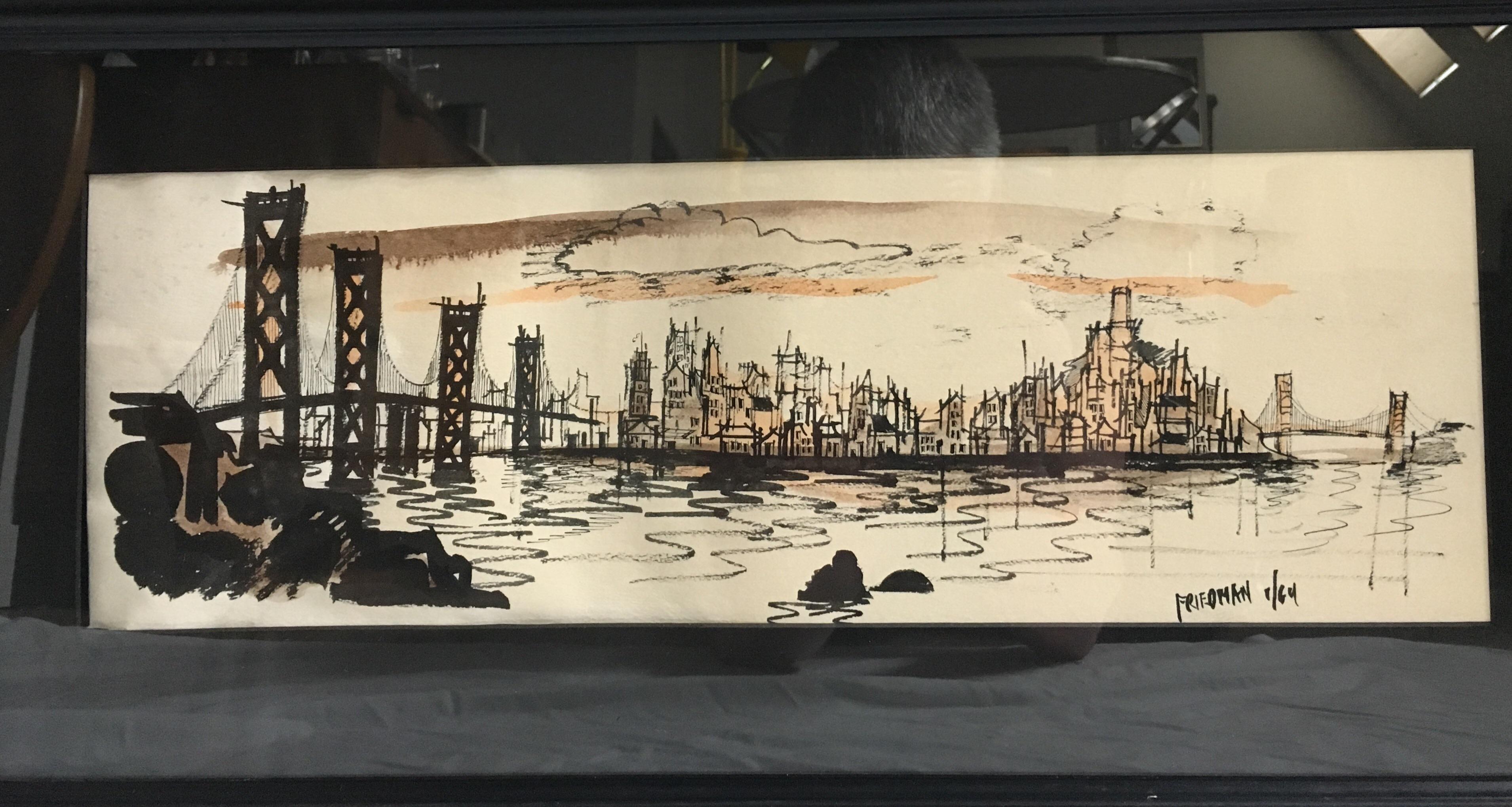 San Francisco Prints By John Irwin Friedman   A Pair   Image 5 Of 10