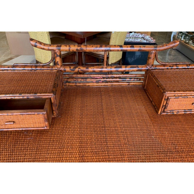 1970s Japanoise Bloomingdale's Bamboo Writing Desk For Sale - Image 5 of 11