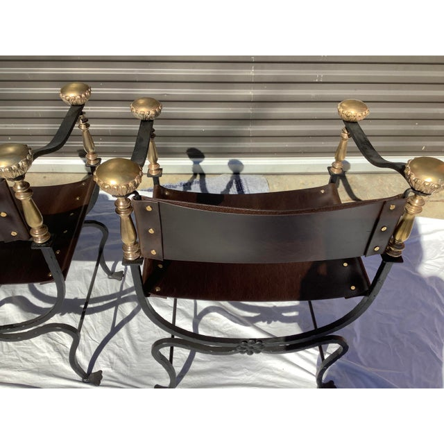 Black 1960s Italian Savaronola Style Chairs, a Pair For Sale - Image 8 of 12