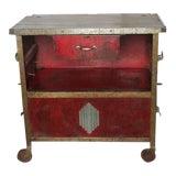 Image of Art Deco Auto Shop Metal Cart/Bar Cart For Sale