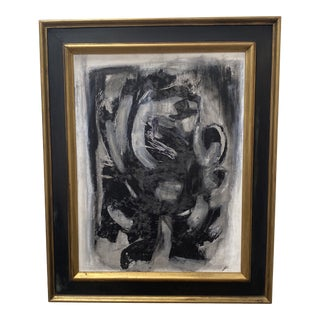 """1990s """"Reflections in the Window"""" Abstract Oil Painting, Framed For Sale"""