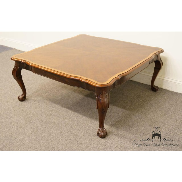 The Big Ball Coffee Table: Late 20th Century Vintage Chippendale Ball & Claw Banded