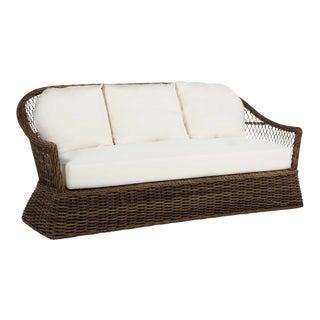 Soho Wicker Sofa in Linen Dove