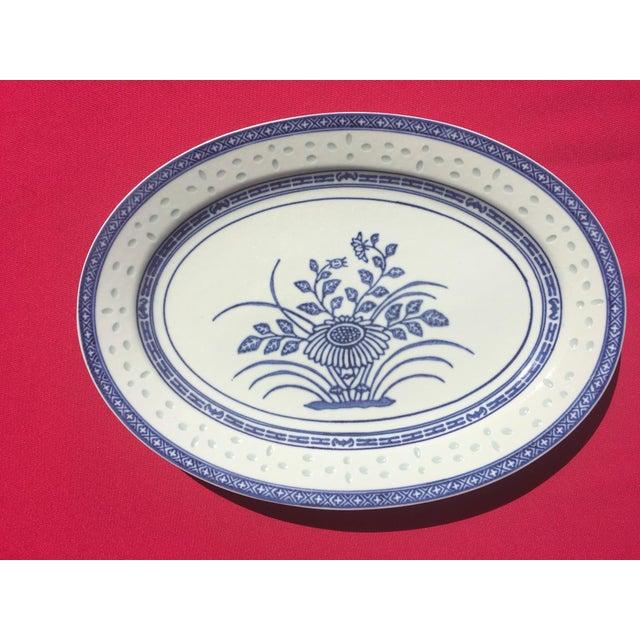 Vintage Blue & White Porcelain Platter - Image 5 of 5