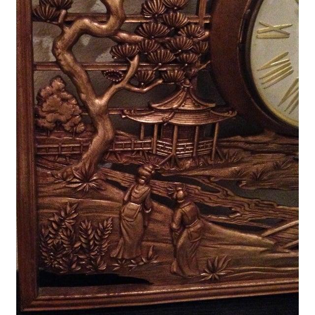 Syroco Mis-Century Chinoiserie Clock - Image 3 of 6