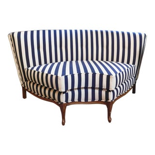 1950s Vintage Baroque Tufted Chair For Sale