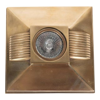 Art Deco Style Brushed Bronze Spotlight with Streamline Design For Sale