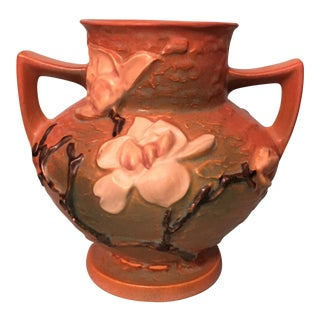 """Roseville """"Magnolia Trophy"""" Vase"""