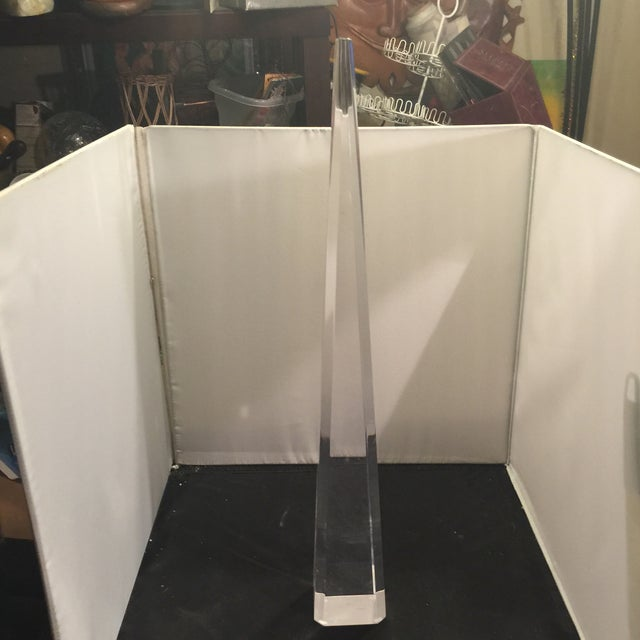 Lucite Spike For Sale - Image 4 of 5