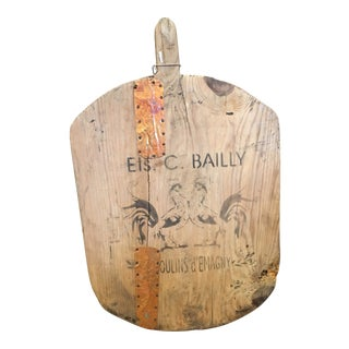 Early 20th Century Rustic Bread Board For Sale