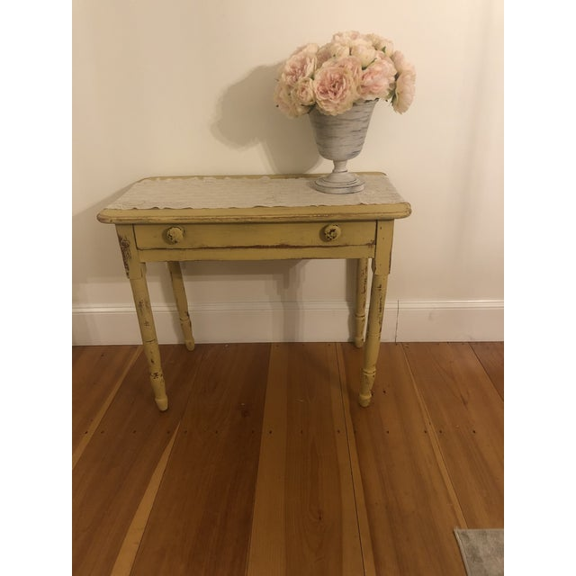 Antique Distresses French Style Farm Table For Sale - Image 10 of 11