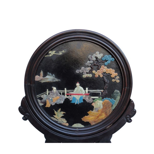 Oriental Tabletop Display Plaques- A Pair For Sale In San Francisco - Image 6 of 9