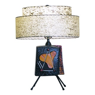 Mid Century Modern Atomic Mod Abstract Sculptural Lamp For Sale