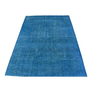 Vintage Blue Hand Knotted - 9′7″ × 13′7″