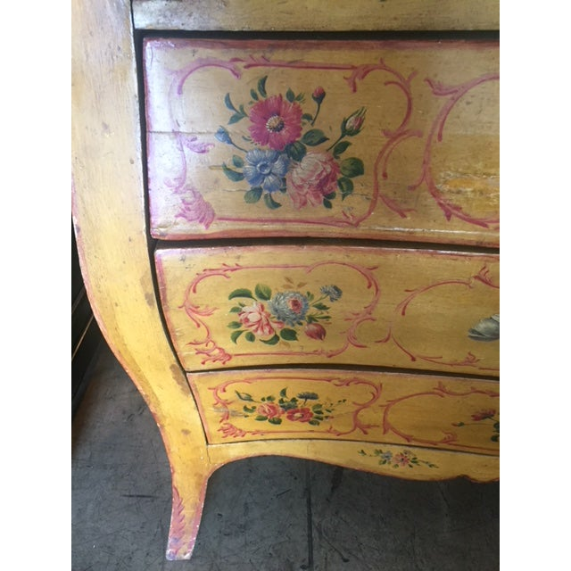 Late 19th Century Italian Painted Commode/ Slant Front Writing Desk For Sale - Image 12 of 13