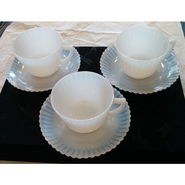 1920s Petalware Teacups and Saucers - Set of 3 - Image 3 of 9