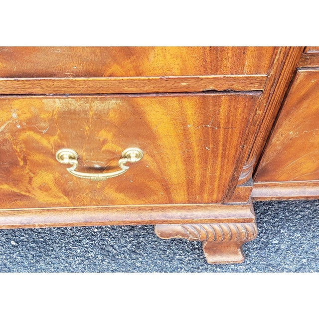 Antique 1920s W&j Sloane Flame 12 Drawer Mahogany Dresser ~ Hallway Cabinet For Sale - Image 11 of 13