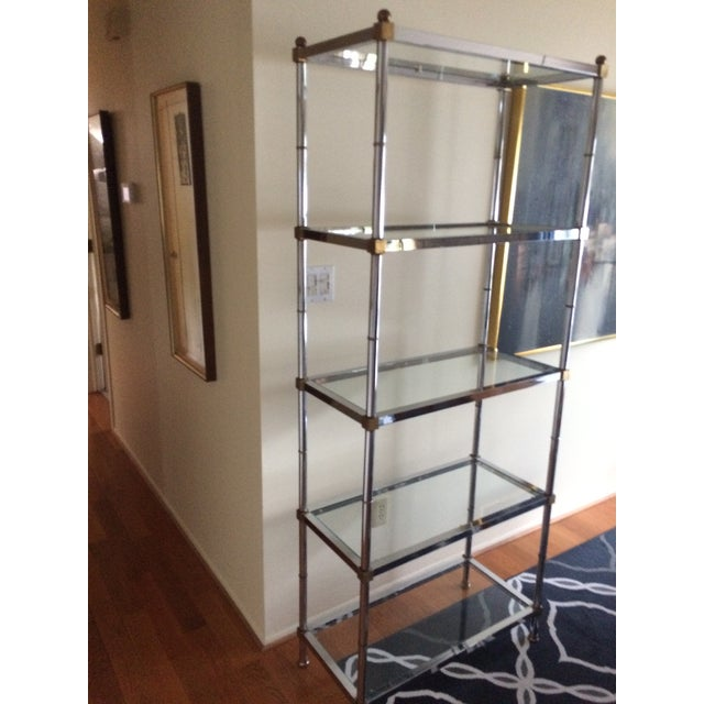 Hollywood Regency 1960s Hollywood Regency Chrome Etagere For Sale - Image 3 of 13