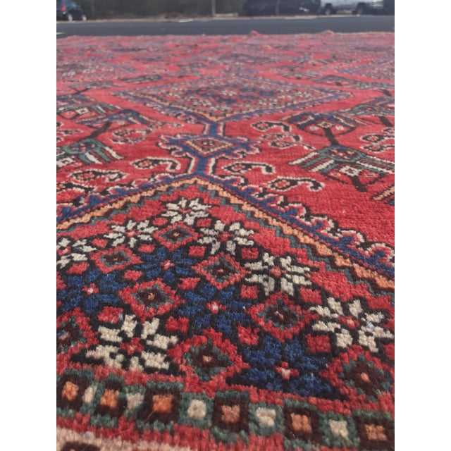 "Vintage Persian Yalameh Area Rug - 7'8"" x 9'7"" - Image 6 of 11"