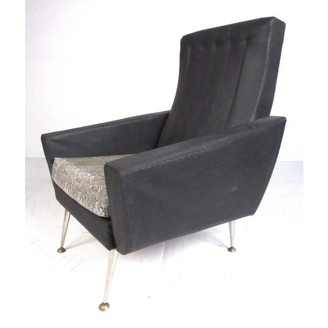 Italian Modern High Back Lounge Chairs After Gio Ponti For Sale - Image 9 of 11