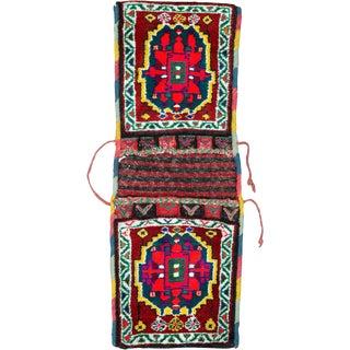 "Vintage Persian Kurd Saddlebag – Size: 1' 1"" X 3"" For Sale"