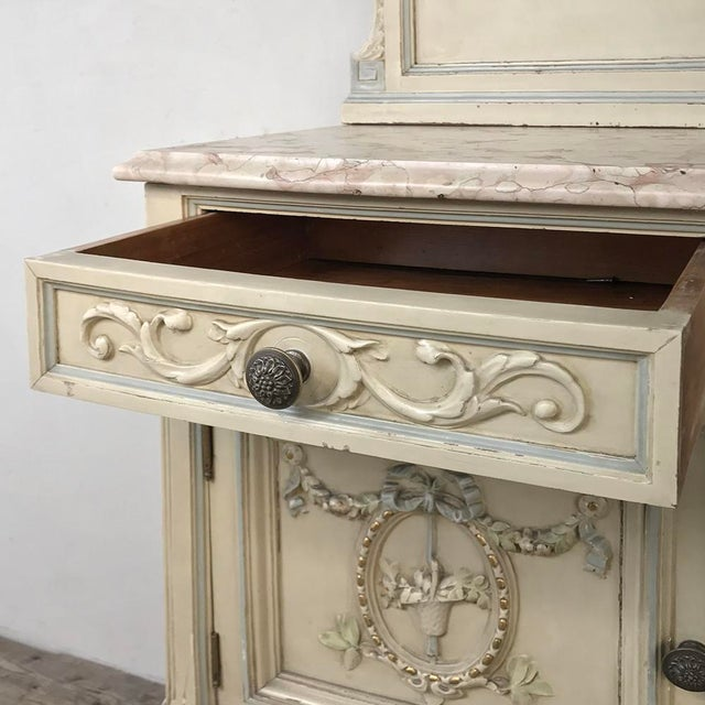 Pair Antique Italian Louis XVI Painted Nightstands For Sale - Image 9 of 13