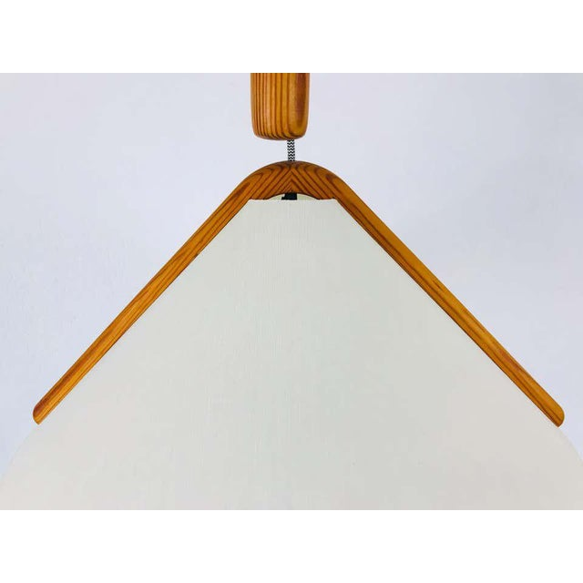 Adjustable Midcentury Wooden Pendant Lamp with Counterweight by Domus, 1960s For Sale - Image 11 of 13