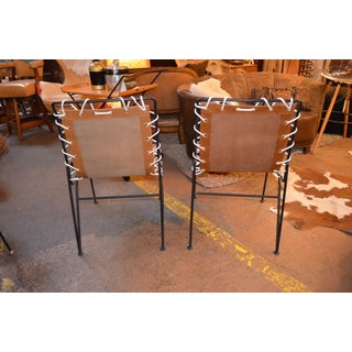 Vintage Mid Century Modern Pipsan Saarinen for Ficks Reed Swanson Patio Chairs - a Pair Newly Upholsted Preview
