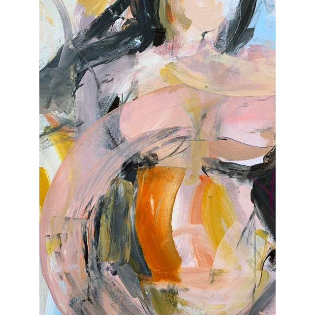 This work is part of a gestural series celebrating movement, women and the female landscape. It creates a metaphor for the...