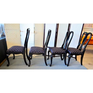 Black Lacquer Dining Chairs - Set of 4 Preview