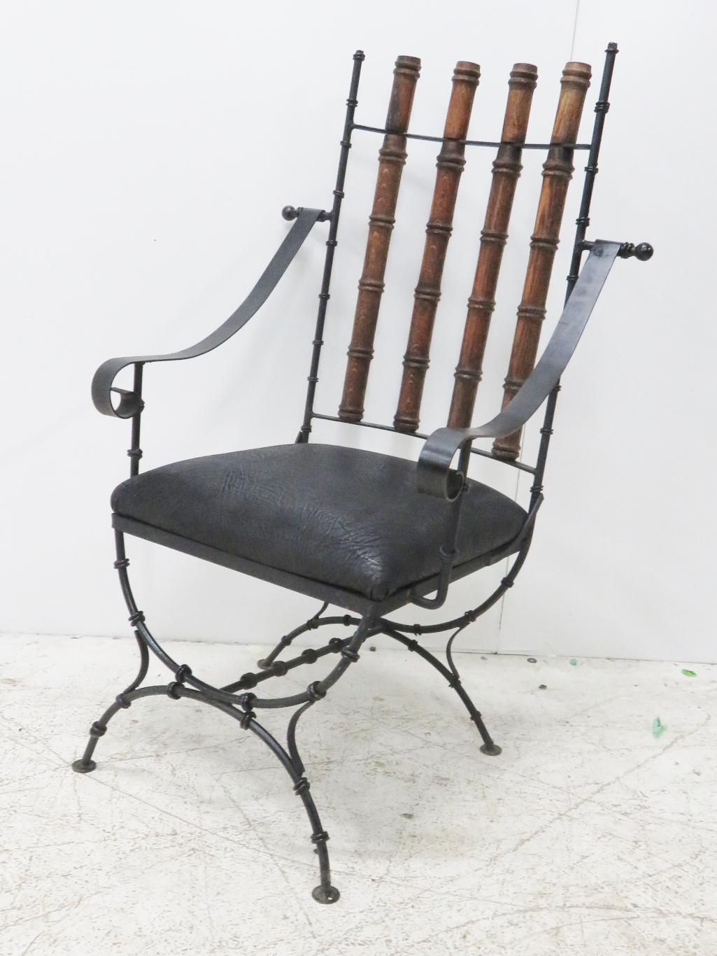 Merveilleux Iron U0026 Oak Faux Bamboo Desk Chair For Sale In Philadelphia   Image 6 ...